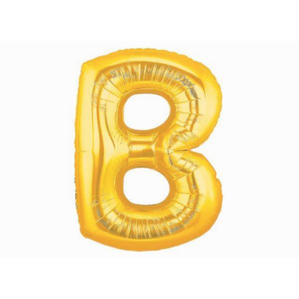Balão Metalizado Dourado Letra B 1 metro
