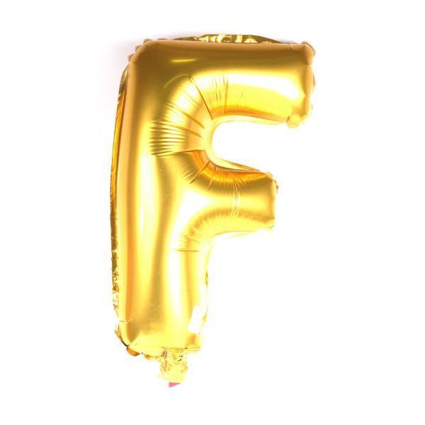 Balão Metalizado Dourado Letra F - 40cm