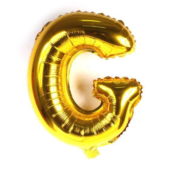 Balão Metalizado Dourado Letra G 1 metro