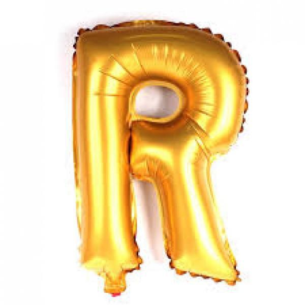 Balão Metalizado Dourado Letra R - 40cm