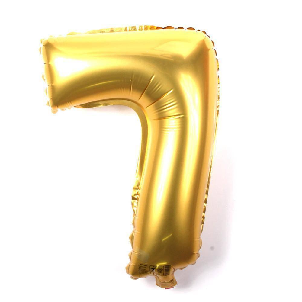 Balão Metalizado Dourado Número 7 - 40cm