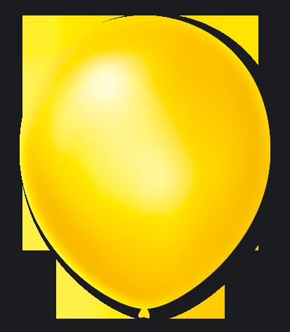 Balão São Roque Cintilante N°7 C/50un Amarelo