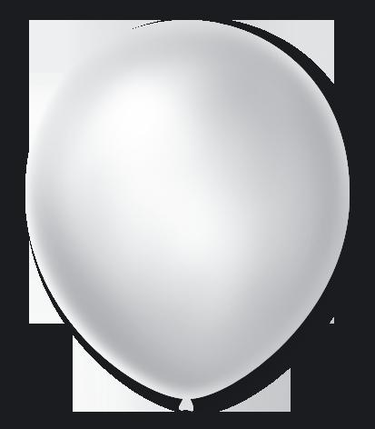 Balão São Roque Cintilante N°7 C/50un Branco