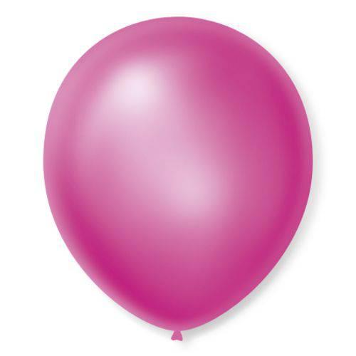 Balão São Roque Cintilante N°7 C/50un Rosa