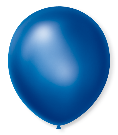 Balão São Roque Cintilante N°7 C/50un Azul