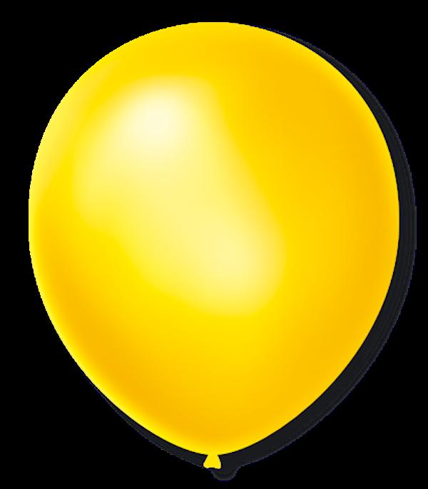 Balão São Roque Cintilante N°9 C/50un Amarelo