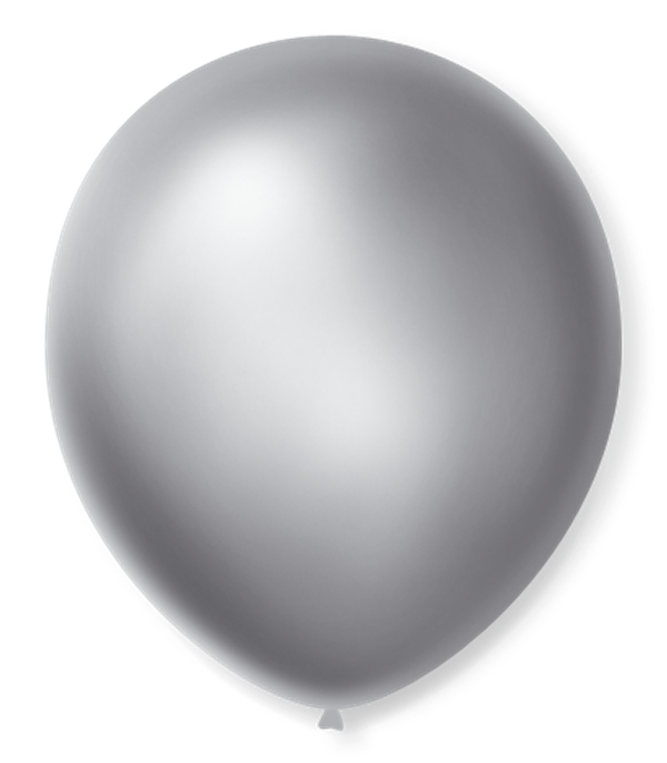 Balão São Roque Cintilante N°9 C/50un Prata