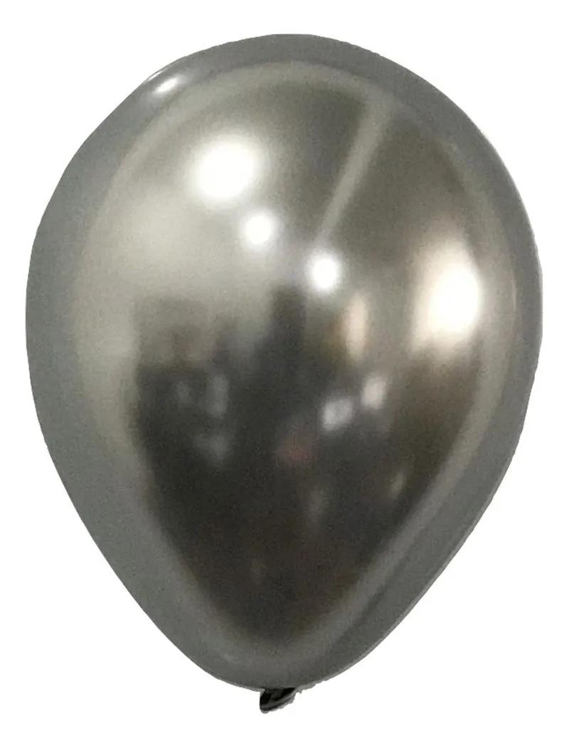 Balão São Roque Metalizado N°11 C/25un Prata