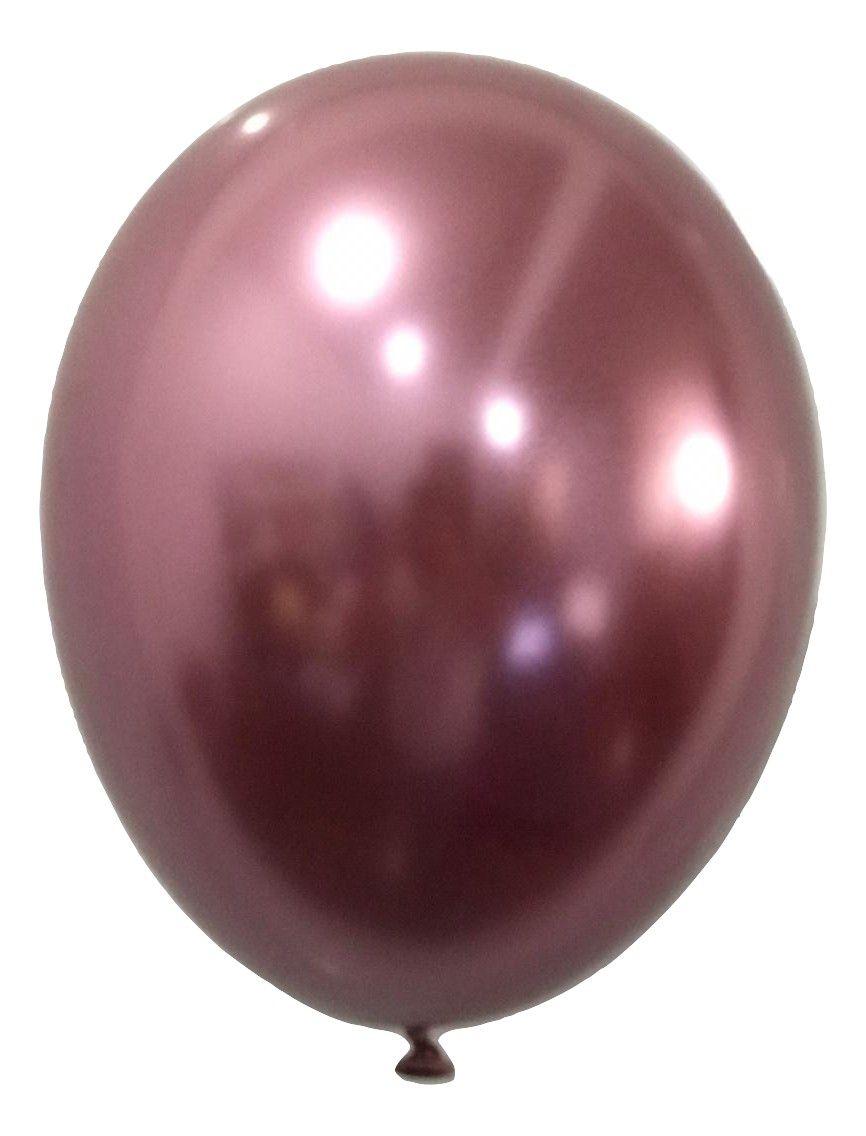 Balão São Roque Metalizado N°11 C/25un Rosa