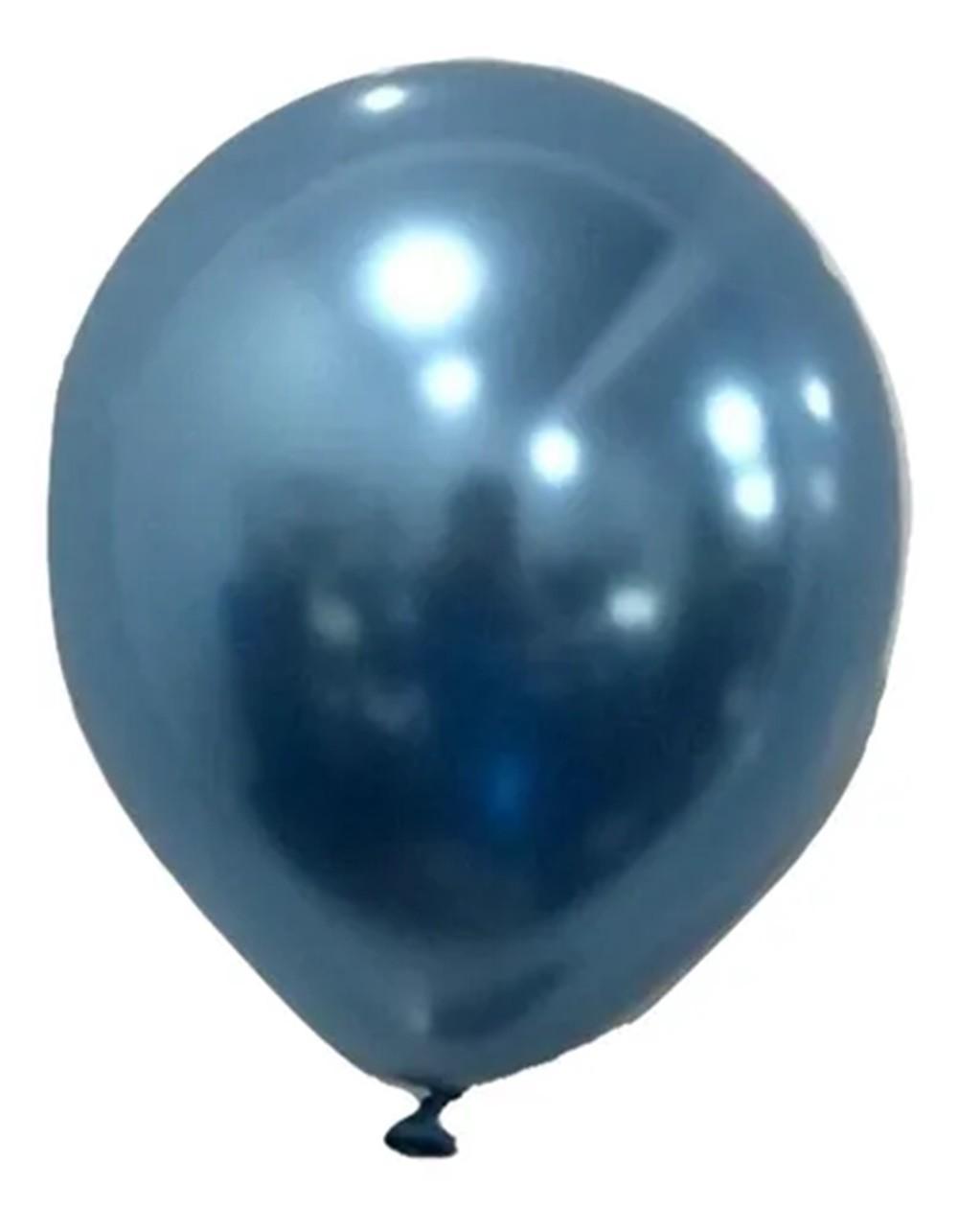 Balão São Roque Metalizado N°5 C/25un Azul