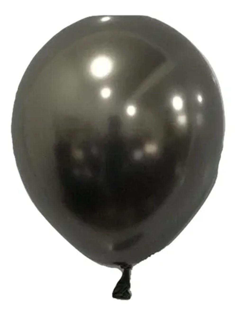 Balão São Roque Metalizado N°5 C/25un Chumbo