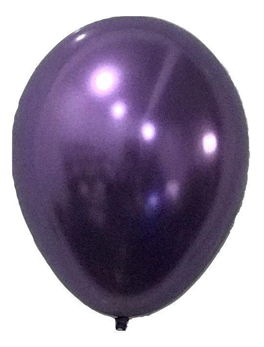 Balão São Roque Metalizado N°9 C/25un Roxo