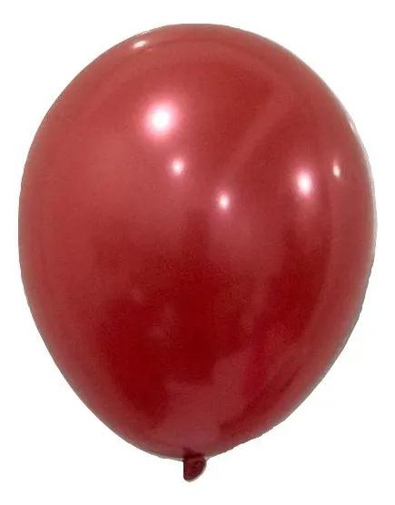 Balão São Roque Metalizado N°9 C/25un Vermelho