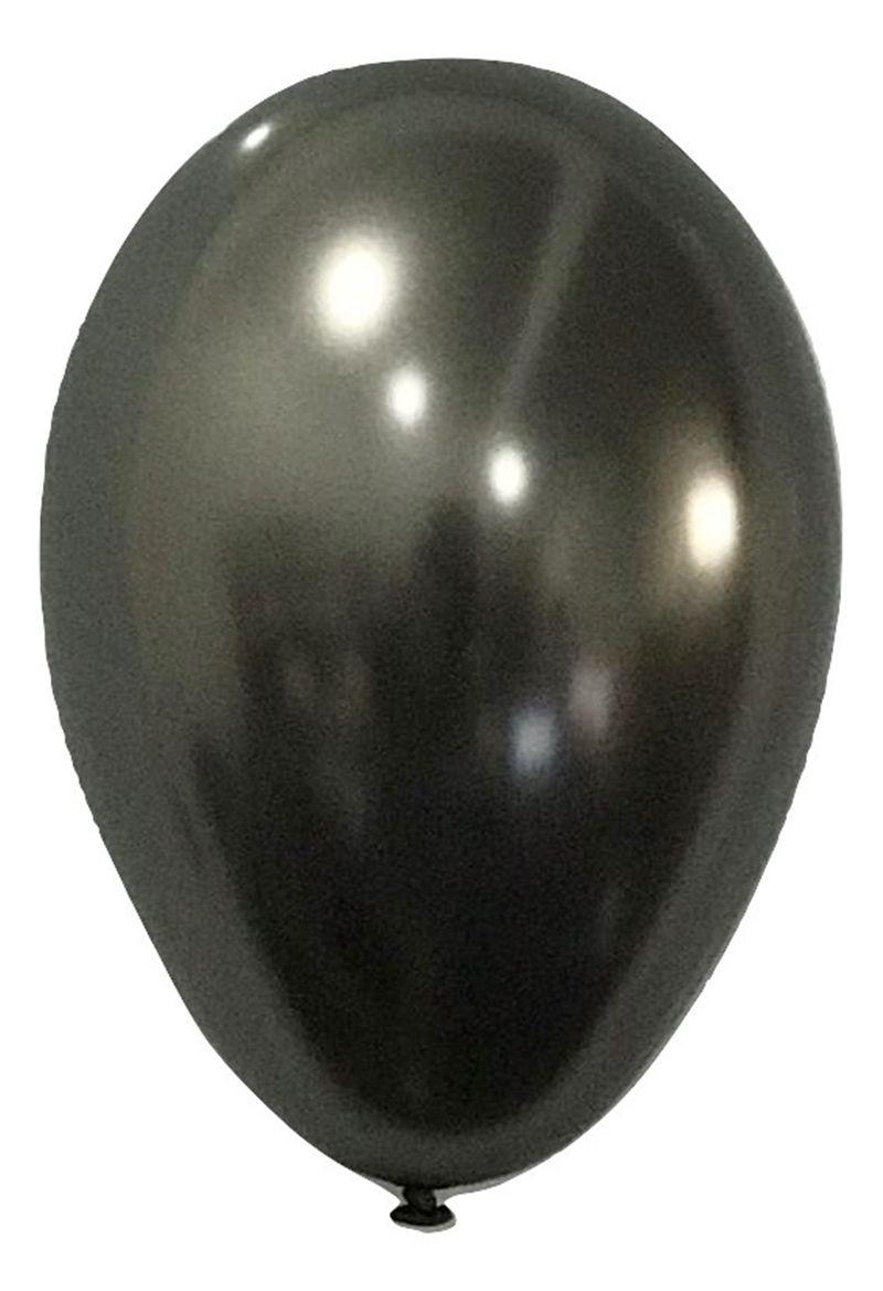 Balão São Roque Metalizado N°9 C/25un Chumbo