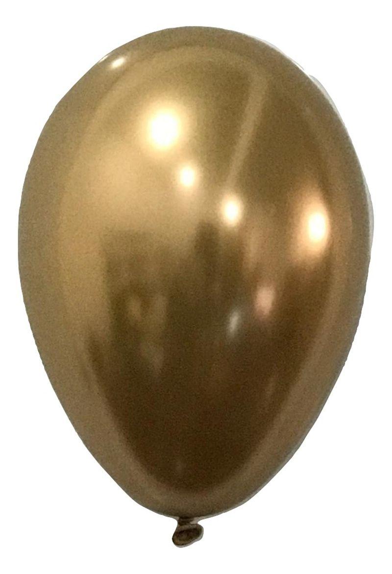 Balão São Roque Metalizado N°9 C/25un Dourado