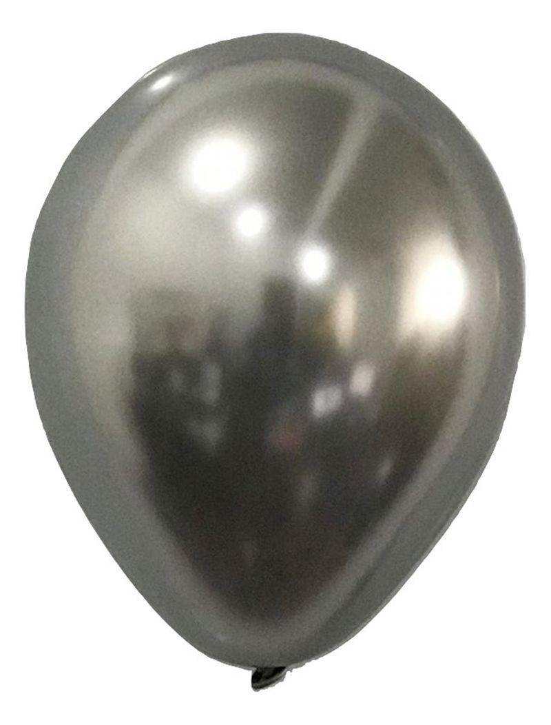 Balão São Roque Metalizado N°9 C/25un Prata
