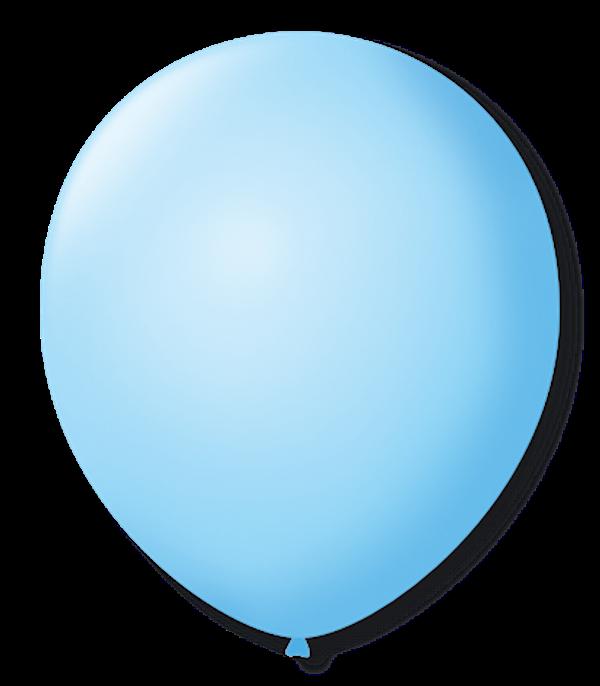 Balão São Roque Redondo N°11 C/50un Azul Baby