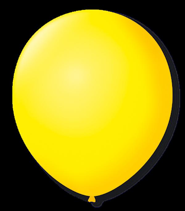 Balão São Roque N°5 Redondo C/50un Amarelo Citrino
