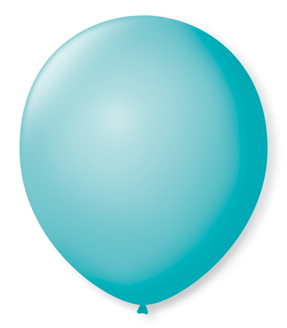 Balão São Roque N°5 Redondo C/50un Azul Oceano