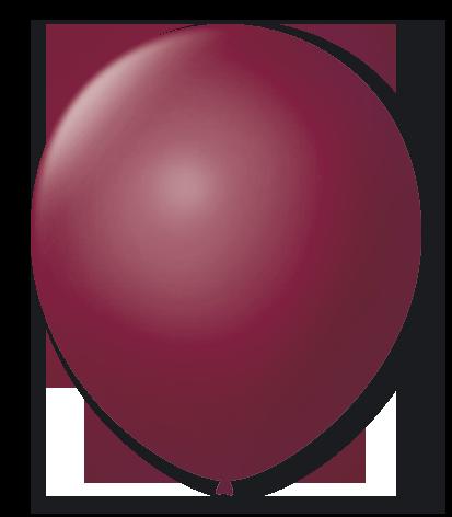 Balão São Roque N°5 Redondo C/50un Bordô