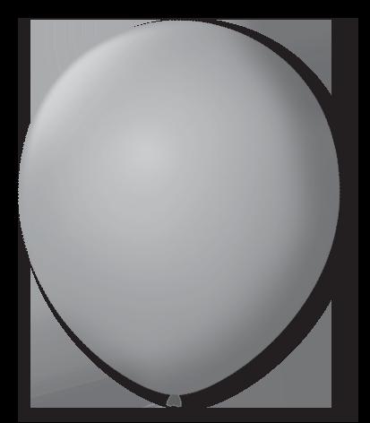 Balão São Roque N°5 Redondo C/50un Cinza