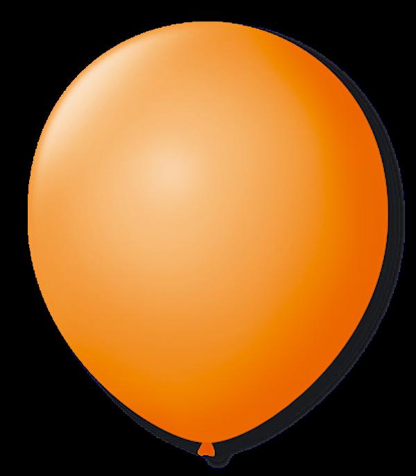 Balão São Roque N°5 Redondo C/50un Laranja Mandarim