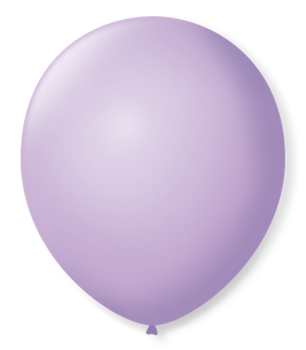 Balão São Roque N°5 Redondo C/50un Lilás Baby