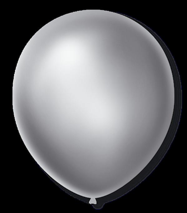 Balão São Roque Cintilante N°5 C/50un Prata