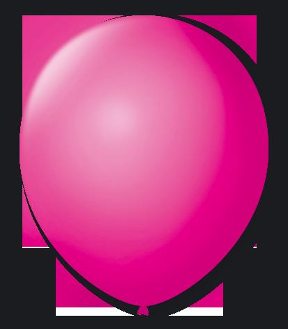 Balão São Roque N°5 Redondo C/50un Rosa Shock
