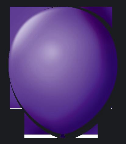 Balão São Roque N°5 Redondo C/50un Roxo Uva