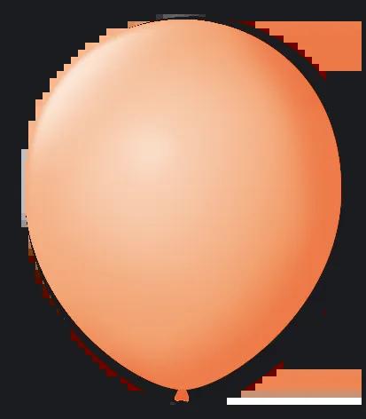 Balão São Roque N°5 Redondo C/50un Salmão