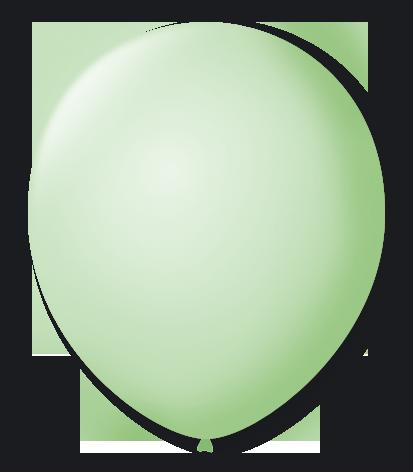 Balão São Roque N°5 Redondo C/50un Verde Hortelã