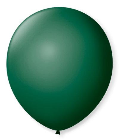 Balão São Roque N°5 Redondo C/50un Verde Musgo