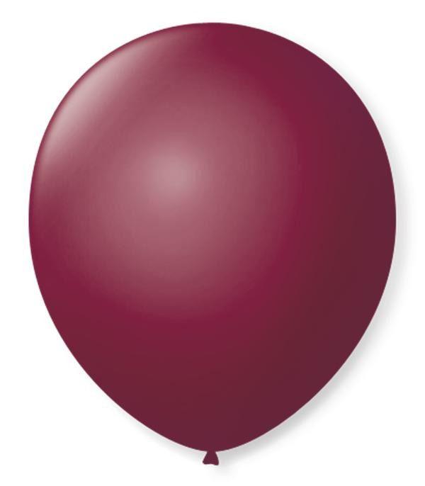 Balão São Roque N°9 C/50un Bordô