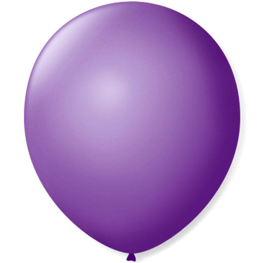 Balão São Roque N°9 C/50un Roxo Ametista