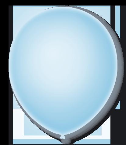 Balão São Roque Neon N°9 C/25un Azul