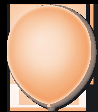 Balão São Roque Neon N°9 C/25un Laranja Citrino