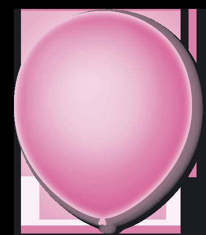 Balão São Roque Neon N°9 C/25un Rosa