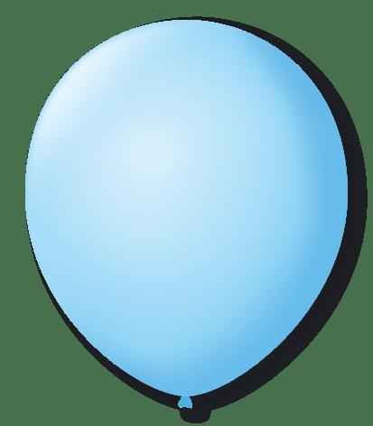 Balão São Roque N°7 C/50un Azul Baby