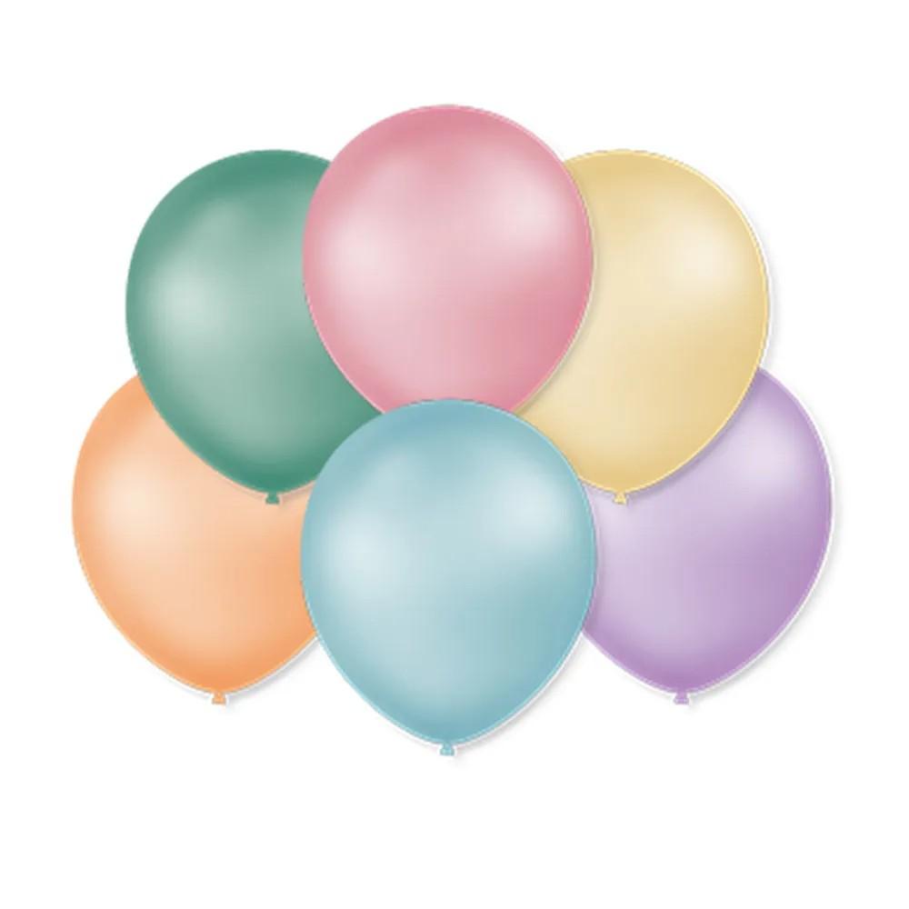 Balão São Roque Perolado N°7 C/50un Sortido