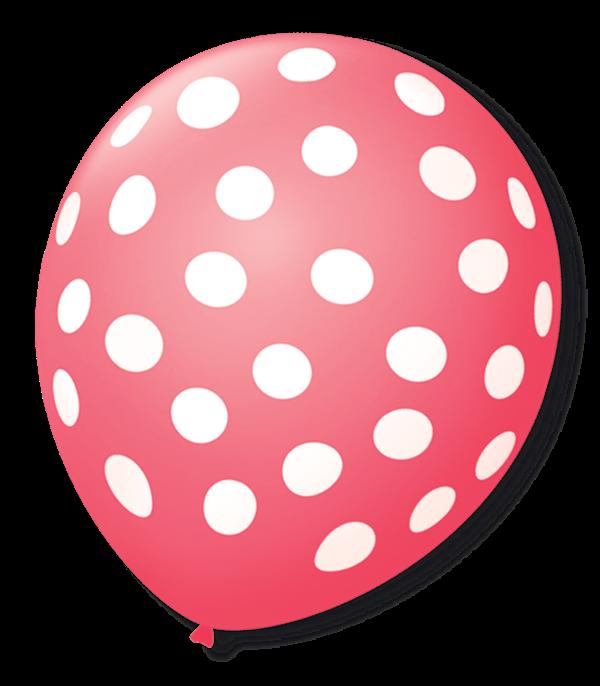 Balão São Roque Póa N°9 C/25un Rosa Pink Com Bolinha Branca