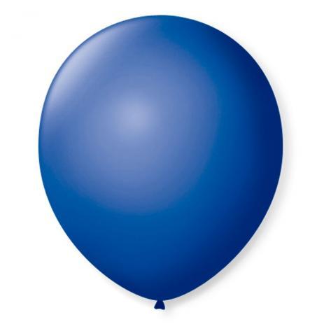 Balão São Roque Redondo N°8 C/50un Azul cobalto