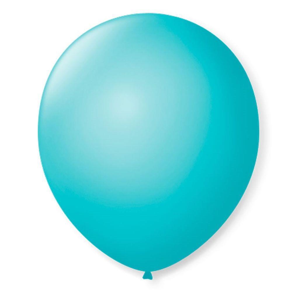 Balão São Roque Redondo N°8 C/50un Azul Oceano