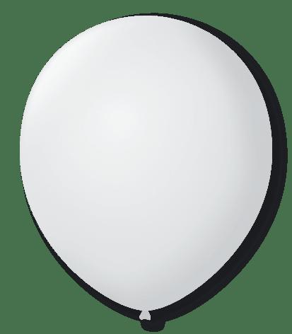 Balão São Roque Redondo N°8 C/50un Branco Polar