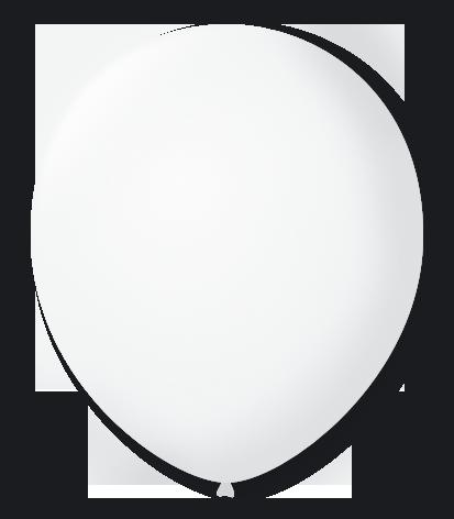 Balão São Roque Redondo N°8 C/50un Cristal (Transparente)