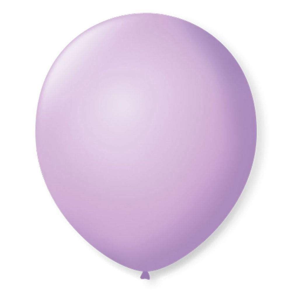 Balão São Roque Redondo N°8 C/50un Lilas Baby