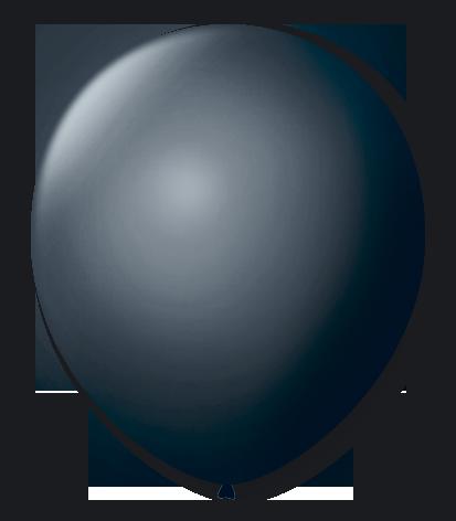 Balão São Roque Redondo N°8 C/50un Preto Ébano