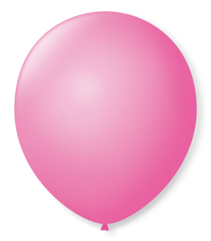Balão São Roque Redondo N°8 C/50un Rosa Tutti-fruti