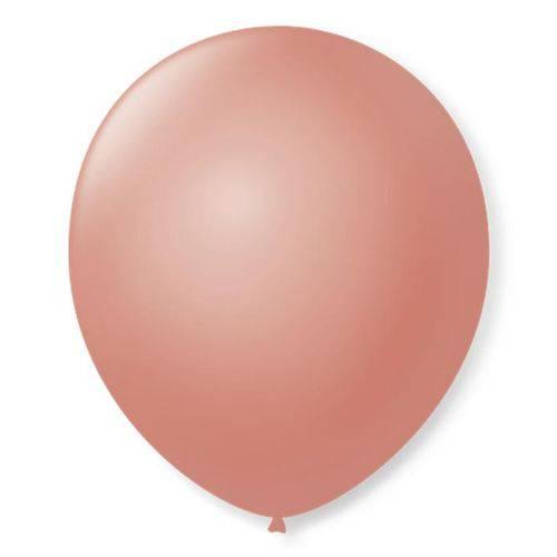 Balão São Roque Redondo N°8 C/50un Rose