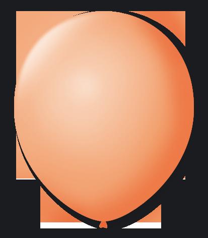 Balão São Roque Redondo N°8 C/50un Salmão
